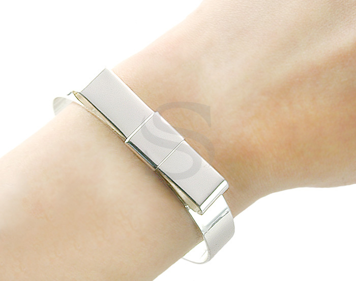 [R0151-ATSS] 1 Pcs / Adjustable Ribbon Bangle / Brass / 63mm x 55mm