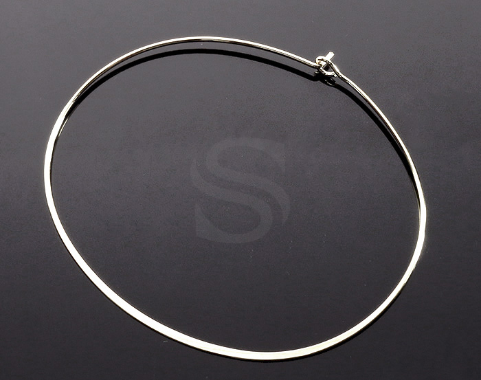[R0322-ATSS] 1 Pcs / Open Bangle Bracelet / Brass / 60mm x 51mm