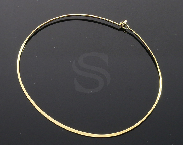 [R0322-G] 1 Pcs / Open Bangle Bracelet / Brass / 60mm x 51mm