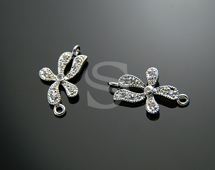 [H0046-C-RF] Flower in The Spring Breeze Connector / 10mmx17mm