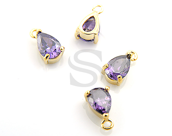 432beb5d80fe8 G0078-P-GDA] 4 Pcs / Amethyst Detailed Prong Setting Oval Pendant ...