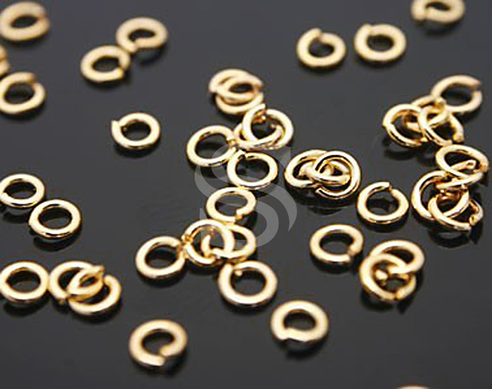 [BS0101-G] 100 Pcs / 2mm Jump Rings / Brass / 23 gauge(0.6mm) x 2mm
