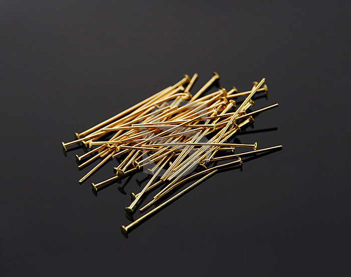 [BS0301-20-G] SALE 50 Pcs / Headpins / Brass / 24 gauge x 20mm