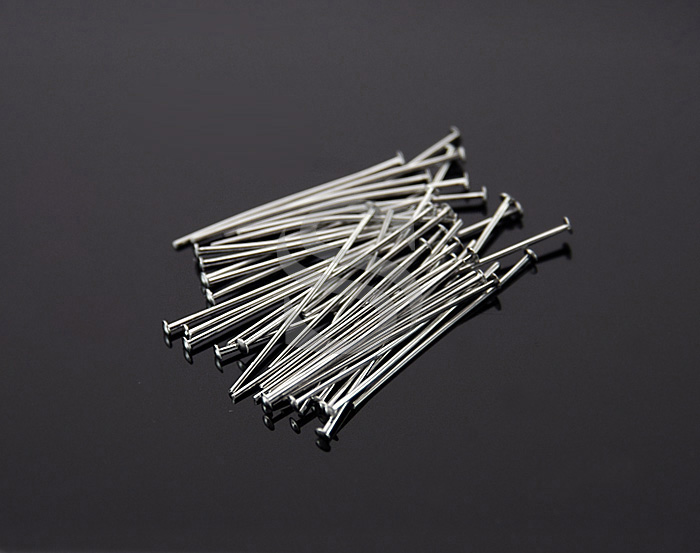 [BS0302-RF] 50 Pcs / Headpins / Brass / 24 gauge x 20mm