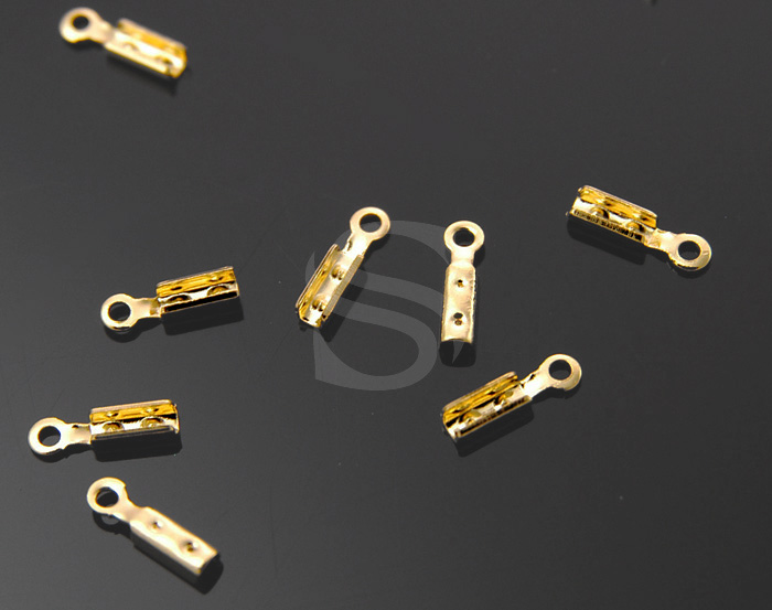 [BS0501-1-G] 5g / End Crimp Bead Cap / Brass / 1.8mm x 7mm