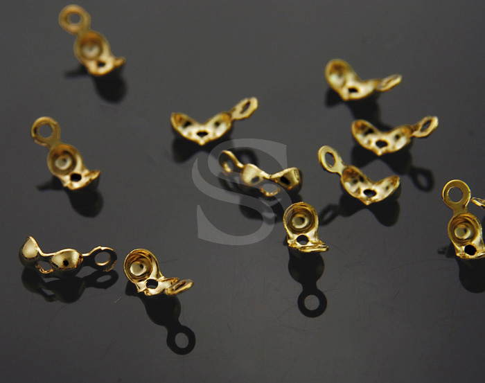 [BS0504-G] 20 Pcs / End Cap / Brass / 6mmx3mm