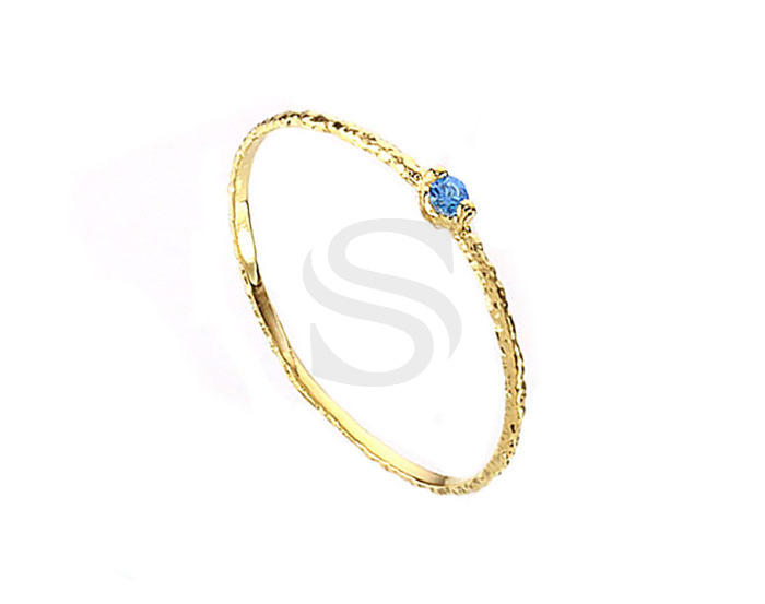 [R0179-53-GAQM] 1 Pcs / Cubic Zirconia Pointed Ring / Brass / EU:53 , US:6 ½, 16.87mm