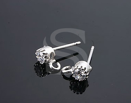 [H0028S-E-RF] 4 Pcs / Stud Earring - Ear nuts included